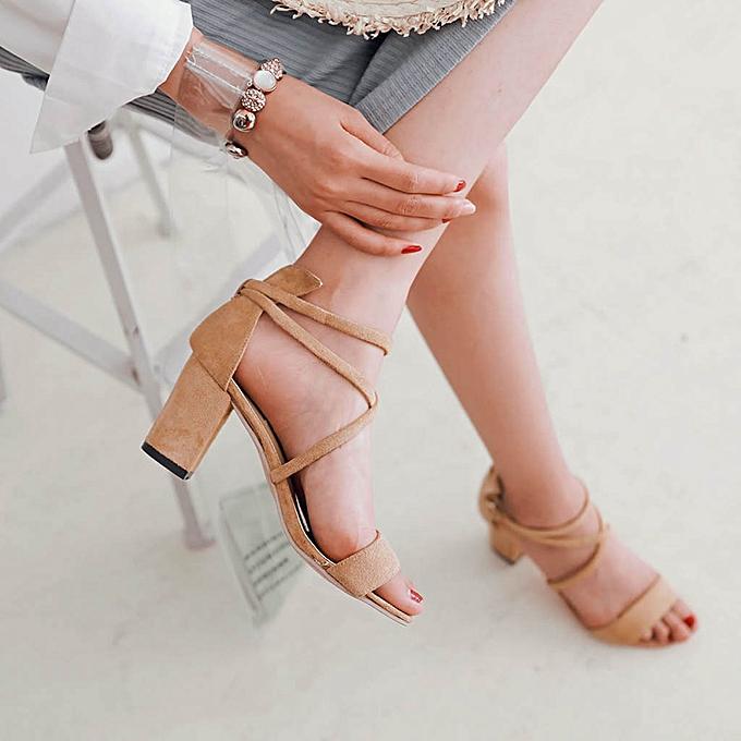 Fashion (Xiuxingzi) femmes Ladies Summer Fashion Causal Single chaussures Sandals à prix pas cher    Jumia Maroc