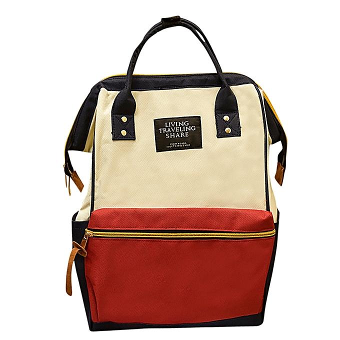 mode Tcetoctre Unisex Solid sac à dos School voyage sac Double Shoulder sac Zipper sac-MultiCouleur à prix pas cher