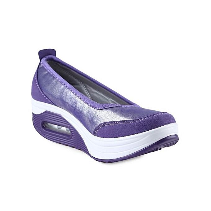 Fashion Casual Pure Color Comfortable Comfortable Comfortable Slip On   Platform Shoes à prix pas cher  | Jumia Maroc 8e6621