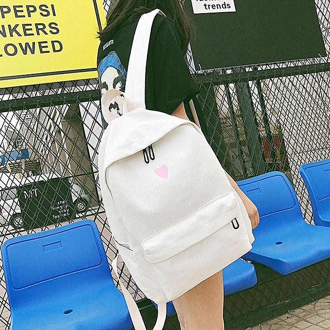 Fashion The new canvas bag fashion handbag backpack shoulder schoolbag mother Korean buns à prix pas cher