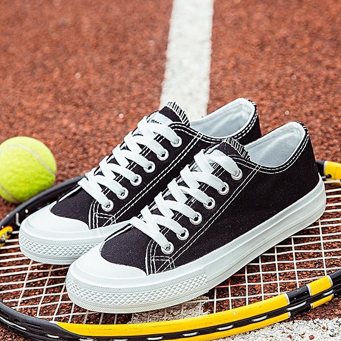OEM Classic couple canvas chaussures Korean fashion sports chaussures trend low to help students chaussures-noir à prix pas cher    Jumia Maroc