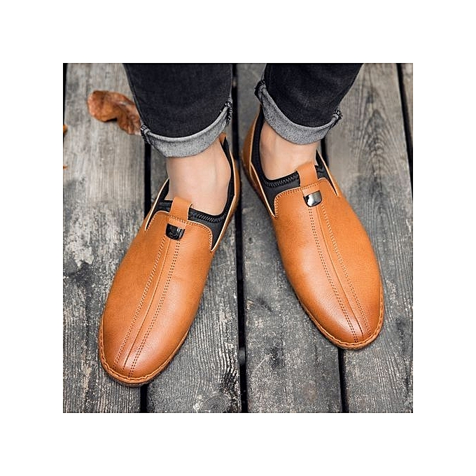 Fashion Genuine Leather     Formal Shoes British Sytle Loafers Slip-On à prix pas cher  | Jumia Maroc e7d06f