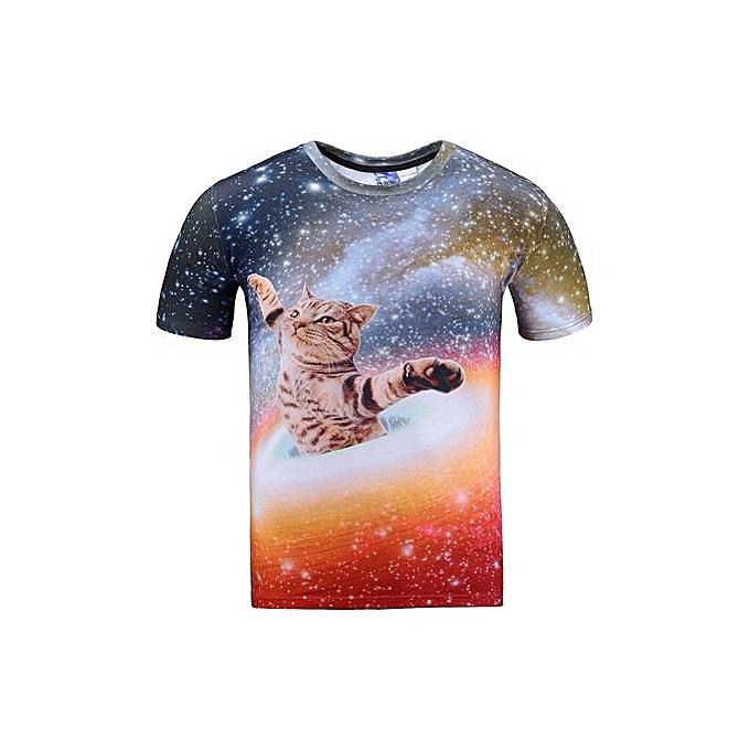AFankara T Shirt For Hommes,3D Digital hauts-Multi à prix pas cher