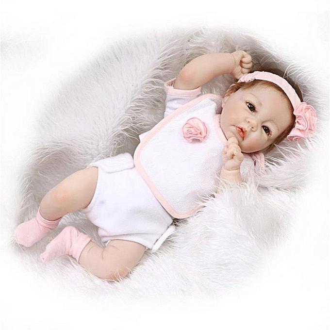Autre 50cm doux silicone vinyle bébé poupée nouveau-né fille enfants jouent jouets Couleuré 50cm à prix pas cher