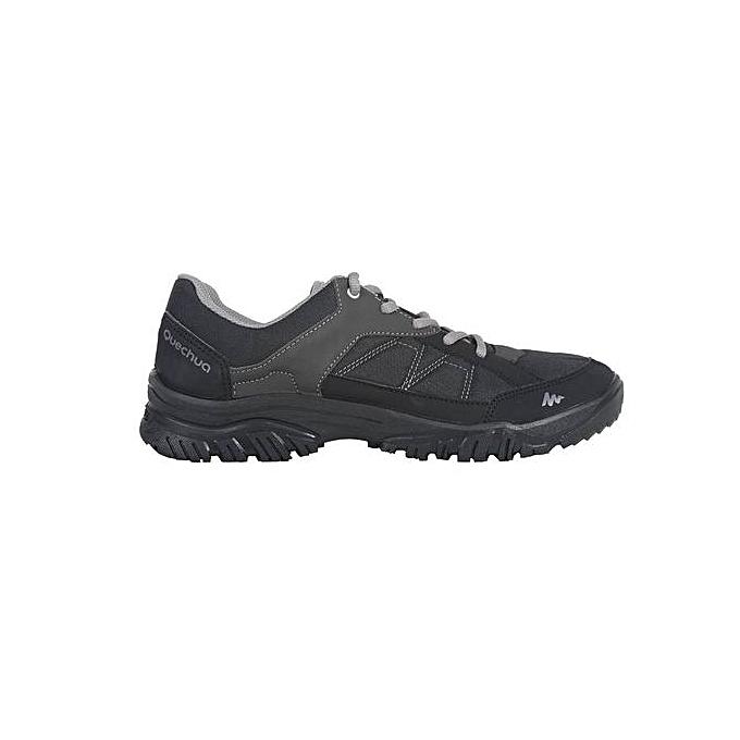 03dda858c Quechua أحذية المشي لمسافات طويلة الطبيعة NH100 الرجال السود   جوميا ...