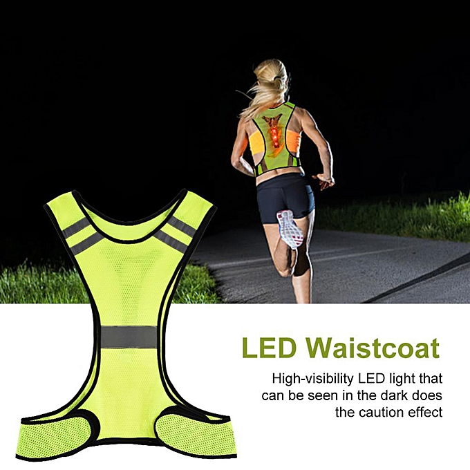 Other Outdoor Sports Safety Night Running Fluorescent jaune Reflective Vest Waistcoat à prix pas cher