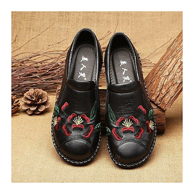 Fashion Fashion Fashion Fashion WoHommes  EmbroideRouge  Soft Sole Vintage Flat Shoes Loafers à prix pas cher  | Jumia Maroc 18fb41