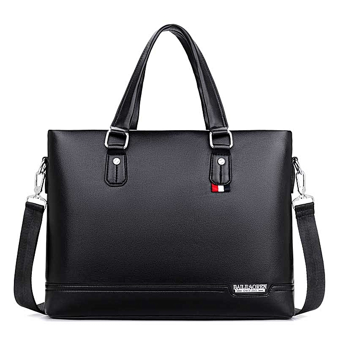 Other Business Messenger Bags Men's Briefcases Handbags noir 14 Inches Laptop Bag Shoulder Briefcases for Man Handbags Outdoor Bags(noir) à prix pas cher