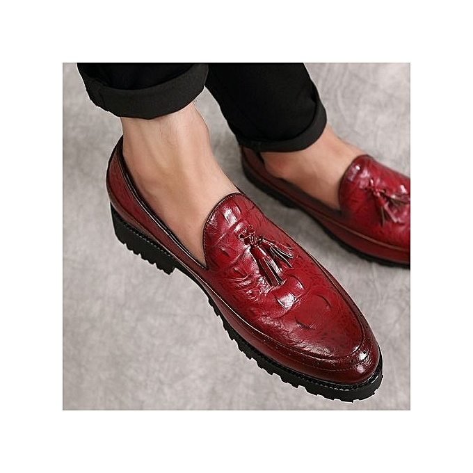 Fashion 2018 New Arrivals  's Formal Shoes Casual Leather Shoes Shoes Leather Tassel Dress Party Office Wedding Shoes à prix pas cher  | Jumia Maroc f96aee