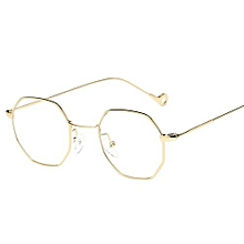 Womens Men Fashion Metal Irregularity Frame Glasses Brand Classic Sunglasses ec962bce58a9
