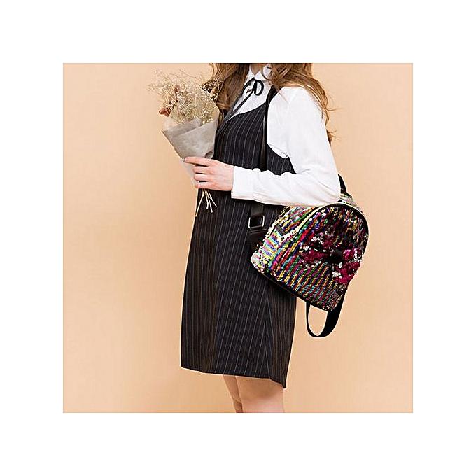 Generic Xiuxingzi_ mode  Sequins Bow cravate School sac sac à dos Satchel femmes voyage Shoulder sac à prix pas cher