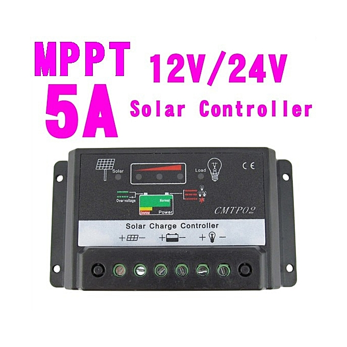 Other 5A 12V 24V  MPPT Solar Charge Controller Fit Solar Panel Battery Regulator Auto Switch A391 à prix pas cher
