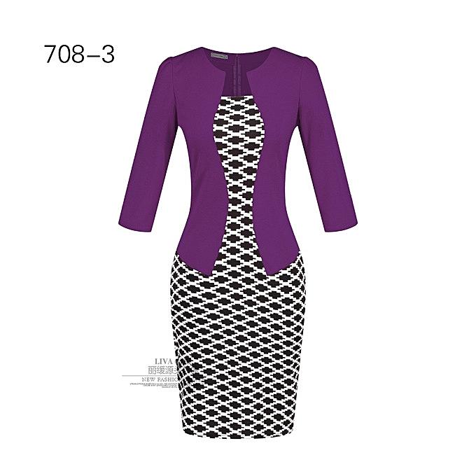 OEM New style Wohommes professional bag hip pencil fashion comfortable dress-7 à prix pas cher