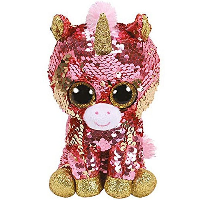 Autre Ty Beanie Boos Sequin Animal Plush Toys Doll Cat Owl Fox Bunny Unicorn Best Christmas Gift 15cm(Sunset the Unicorn) à prix pas cher