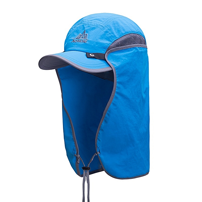 AONIJIE Unisex Fishing Hat Sun Visor Cap Hat Outdoor UPF 50 Sun Prougeection with Removable Ear Neck Flap Cover for Hiking(bleu) à prix pas cher