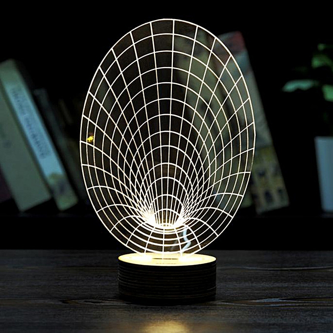 OEM Night Light Optical 3D Chain Link Lighting Laser Cut Desk Lamp USB LED à prix pas cher