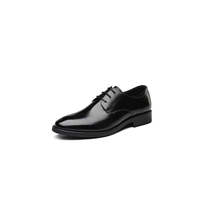 Fashion New Breathable Men's Leather chaussures Men's Business Dress chaussures Leather Men's chaussures-noir à prix pas cher    Jumia Maroc
