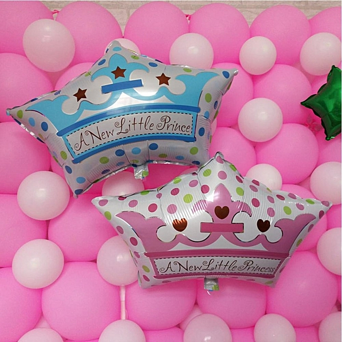 UNIVERSAL Crown Foil Balloon Boy  Girl Prince Princess   Shower Birthday Party Decor Prince à prix pas cher