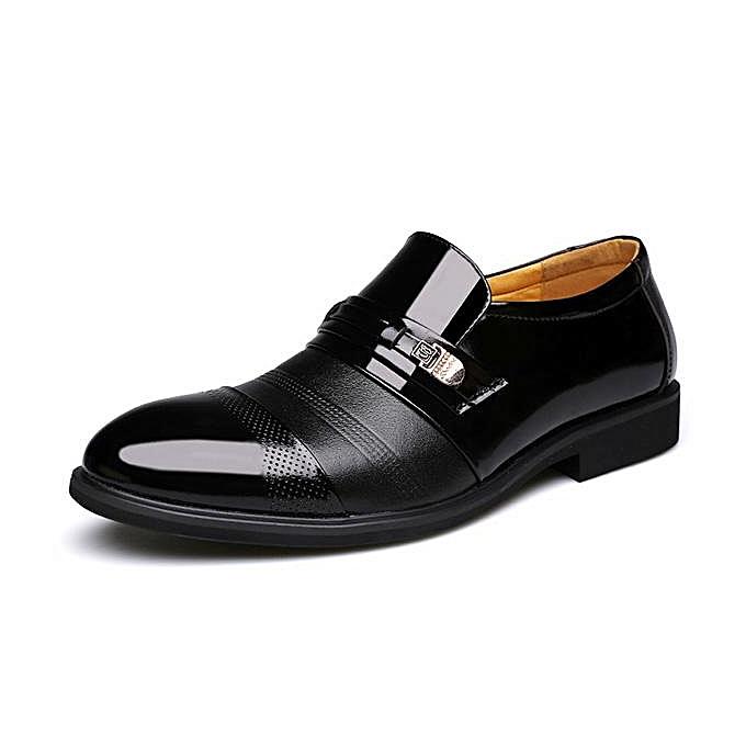 Fashion Fashion Men Cap Toe Pointed Toe Slip On Business Formal chaussures-EU à prix pas cher    Jumia Maroc