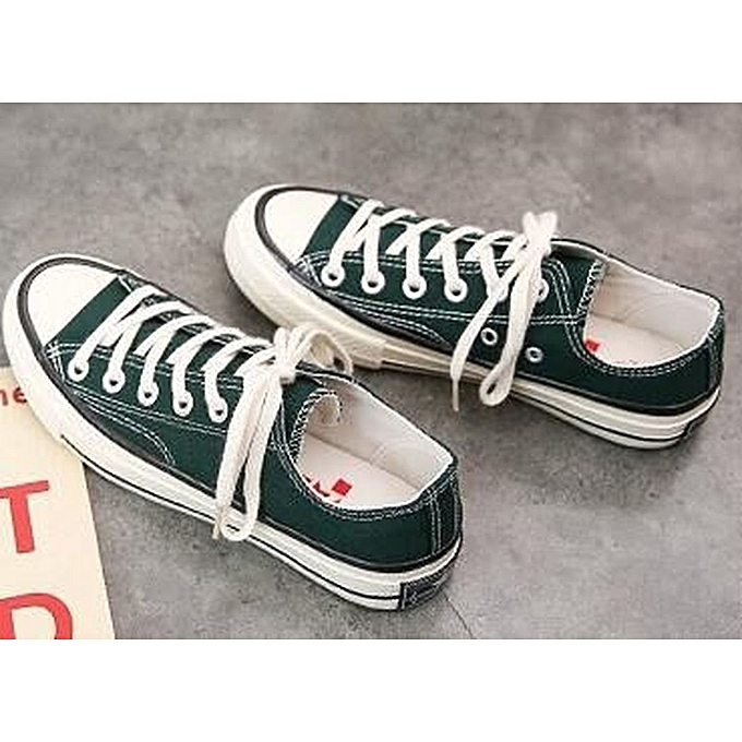 Other Stylish Students Korean Spring Canvas BreathableTrend Causal baskets Board chaussures-b-noirish vert à prix pas cher    Jumia Maroc