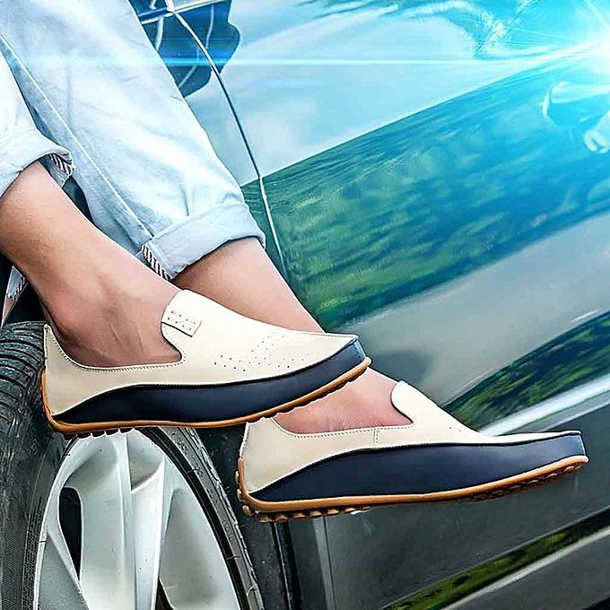 mode Hommes Décontracté chaussures Tide Hommes Peas cuir chaussures British Driving chaussures Lazy chaussures à prix pas cher