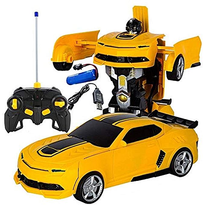 123 Générique 4 Pièces de voiture de robot Télécomhommede Deformation voiture modèle de jouet Conversion Télécomhommede Batterie Déformation Sport Robot Jouet Bumblebee à prix pas cher