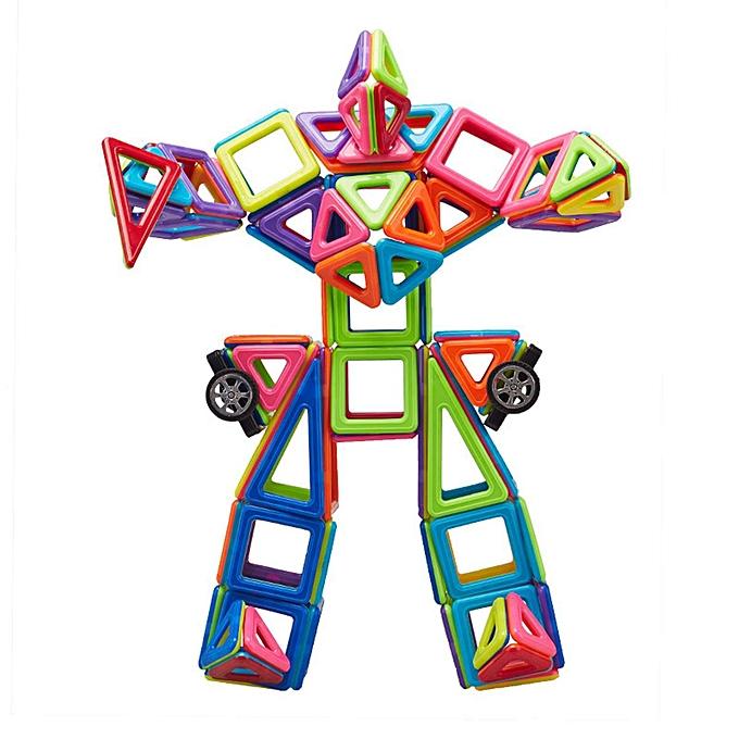 UNIVERSAL 91 Piece 3D Bricks Magnetic Building Blocks Tiles Educational Toys Enfants Gift Set à prix pas cher