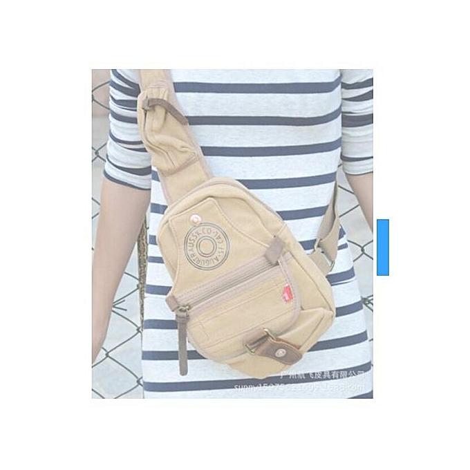 Generic Nice Man Shoulder Bag Canvas Messenger Bags Larger Bag Chest Sling Bag à prix pas cher