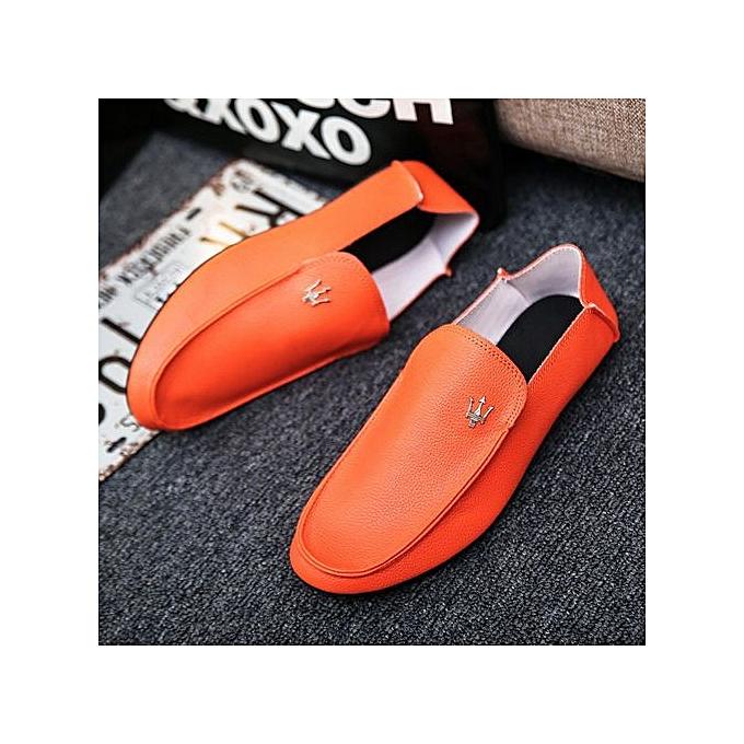 OEM Men's hommes chaussures casual chaussures tide chaussures peas chaussures hommes lazy chaussures-Orange à prix pas cher    Jumia Maroc