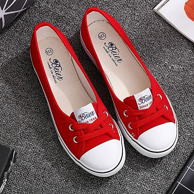 Fashion Wohommes canvas chaussures versatile literary shallow chaussures casual blanc chaussuresrouge à prix pas cher    Jumia Maroc