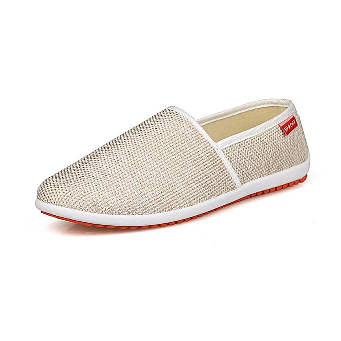 Fashion Men chaussures Cotton Blend Low Top Slip On Casual Outdoor Comfortable Flats à prix pas cher    Jumia Maroc