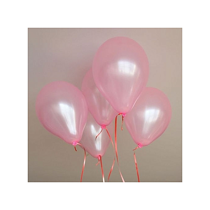UNIVERSAL Balloon Celebration Party mariage Birthday Hot 100x 10  Couleurful Pearl Latex (rose) à prix pas cher