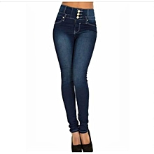 d511b61ec94d2 Suitable Women Ladies Black Blue High Waisted Skinny Jeans Size 6 8 10 12  14 16