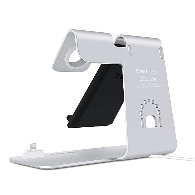 Generic Bestand 3-in-1 Wireless Charger Phone Watch Headset Holder Bracket For Apple à prix pas cher