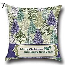 Christmas Xmas Santa Claus Deer Cotton Linen Pillow Case 7