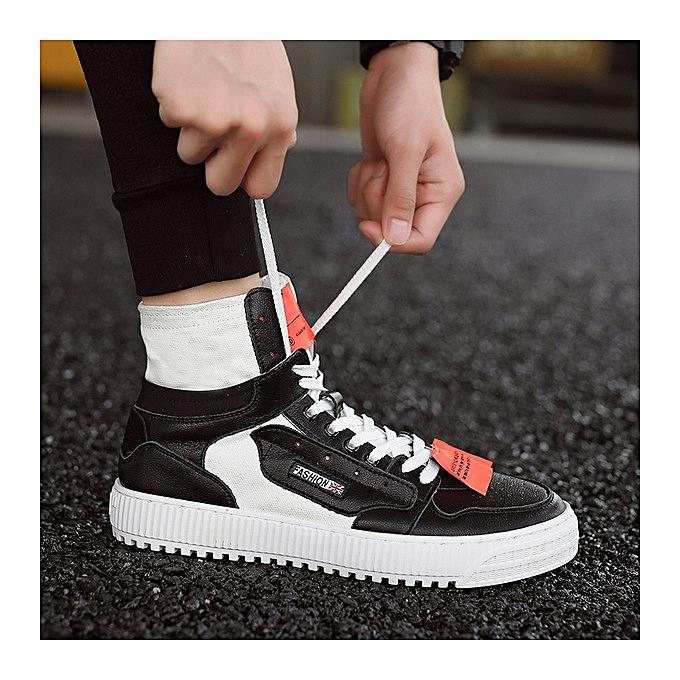 OEM chaussures hommes wild hommes chaussures breathable hommes casual canvas hip-hop chaussures-noir à prix pas cher    Jumia Maroc