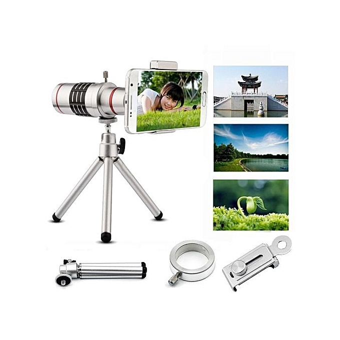 90 18x zoom optical telescope camera telephoto lens with for Miroir telescope achat