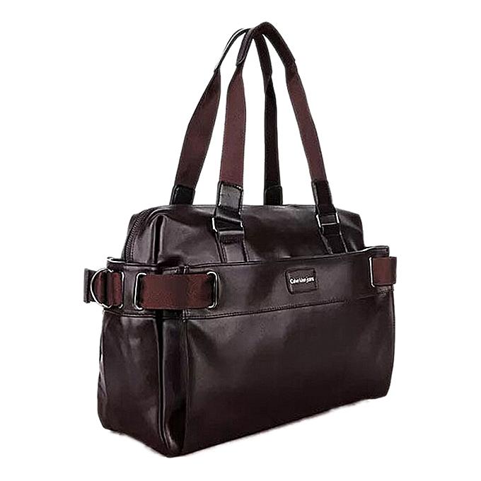 Other TFTP 2018Men Casual Briefcase Business Shoulder Leather Messenger Bags Computer Laptop Handbag Men's Travel Bags à prix pas cher