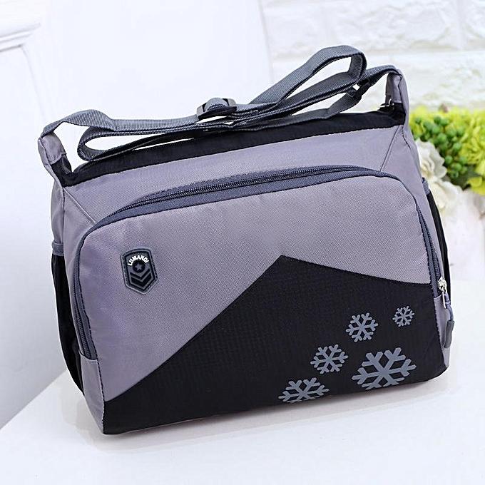 Fashion femmes Men Nylon Durable Vintage Shoulder Bags Waterproof Crossbody Bag à prix pas cher