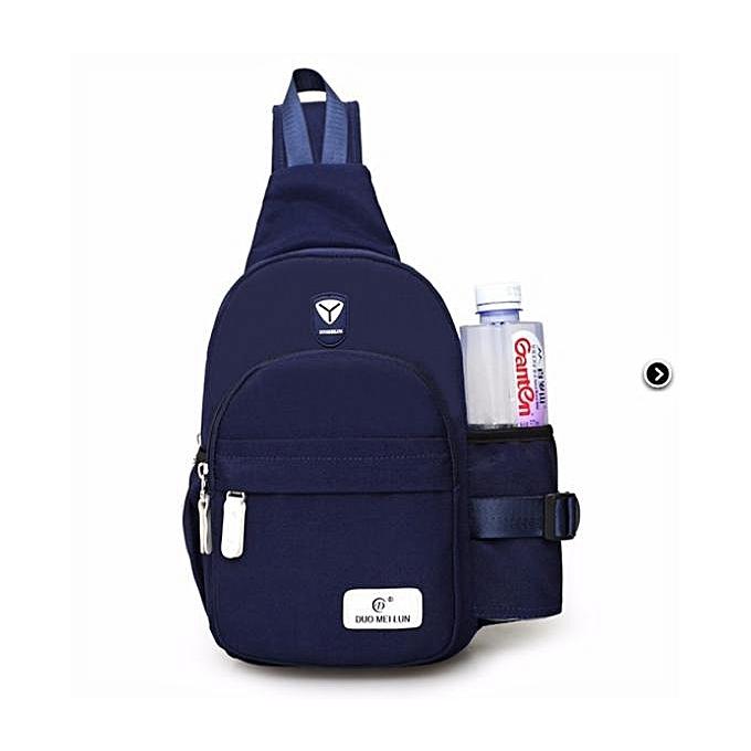 UNIVERSAL femmes Men Nylon Shoulder Chest Cycle Sling Daily Bag Crossbody Travel Backpack  Dark bleu à prix pas cher