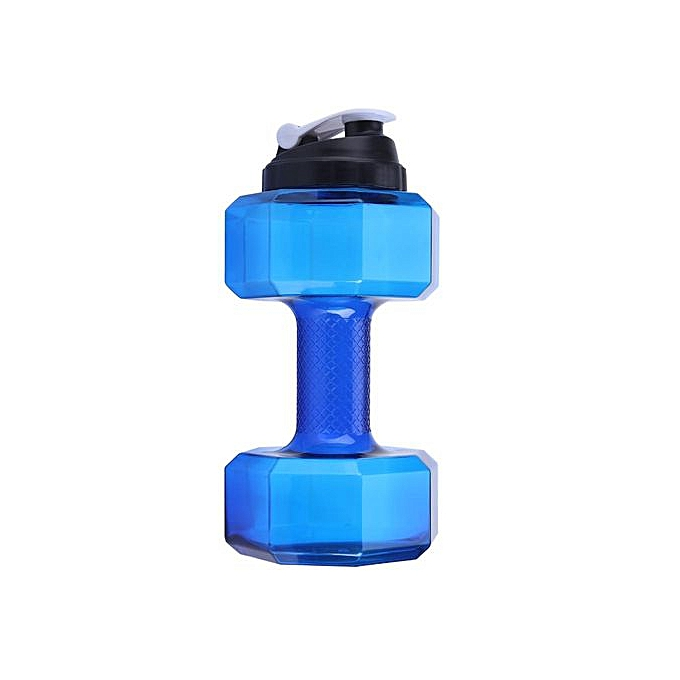 Other Large Capacity Dumbbell Shaped Sports Water Bottle Gym Training Cup bleu à prix pas cher
