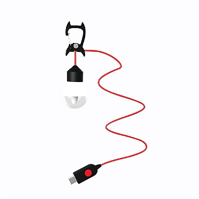 GENERAL quanxinhshang Bright USB LED Outdoor Camping Tent Light Lantern Hiking Fishing Hanging Lamp à prix pas cher