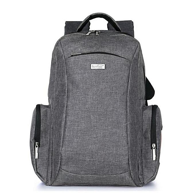 UNIVERSAL Multifunctional Baby Diaper Bag Mummy Backpack Bag Nappy Changing Bag Mother Bag  gris à prix pas cher