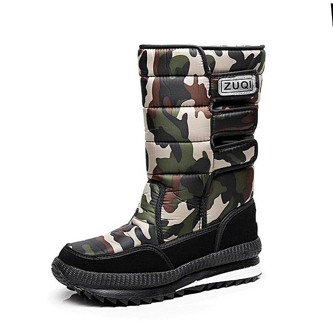 Fashion Fashion Pop Men's Winter Snow bottes Outdoor Warm chaussures Waterproof Mid-Calf bottes-EU à prix pas cher    Jumia Maroc