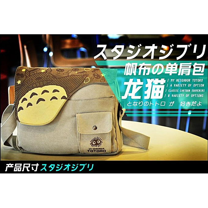 Fashion Fashion Anime My Neighbor Totor Canvas Messenger Bag Uni Students Boys Girls Shoulders Bag Schoolbag Best Gifts à prix pas cher