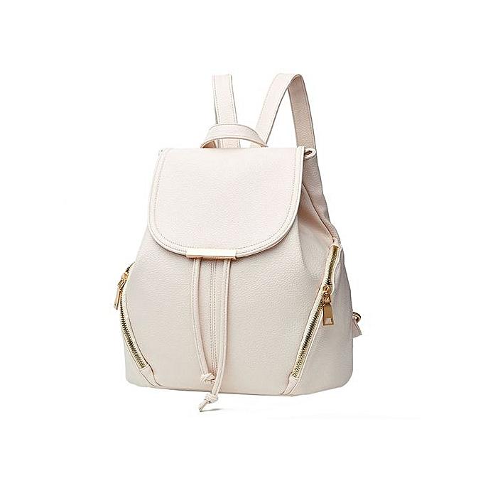 Generic Fashion School Leather Backpack Shoulder Bag Mini Backpack For femmes & Girls à prix pas cher
