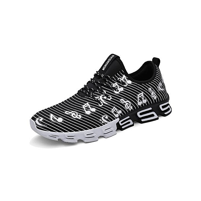 Fashion Mesh Running chaussures For Men baskets Outdoor Breathable Comfortable Athletic Flat chaussures femmes Sports chaussures-noir à prix pas cher
