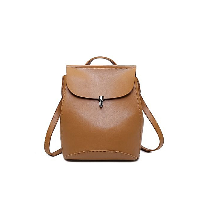 Generic Multi-function sac à dos For femmes voyage sacs School College sac Décontracté-marron à prix pas cher
