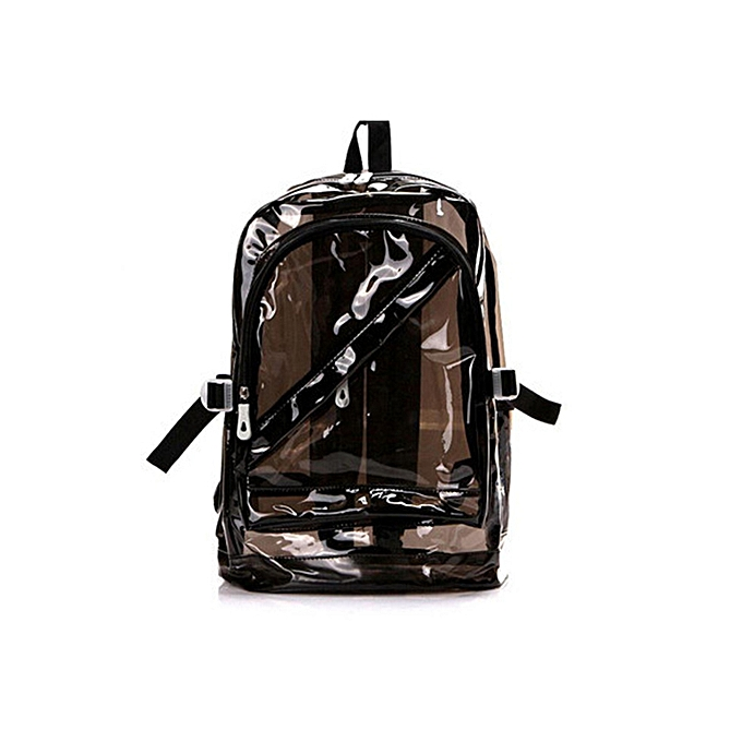 Other JIANXIU imperméable sac à dos Transparent Clear PC for Teenage Girls School sacs Shoulders sac Space sac à dos 6 Couleurs(noir) à prix pas cher
