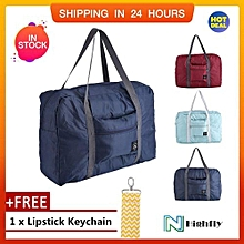 fd444612ffe42  Free Gift Big Size Foldable Carry-On Duffle Bag Travel Luggage Carry  Storage